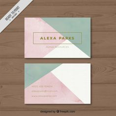 Company card with geometric shapes Premium Vector