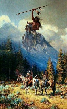 Culturas Native American Paintings, Native American Pictures, Native American Artists, Indian Paintings, Native American Warrior, Native American Wisdom, Native American History, American Symbols, Tattoo Indio