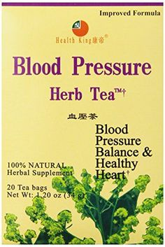 Health King  Blood Pressure Herb Tea Teabags 20 Count Box -- You can get more details by clicking on the image. (This is an affiliate link and I receive a commission for the sales)