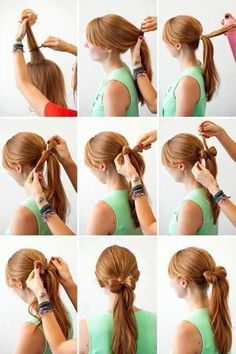 I can't do this but it's cute!!! #hair #style #hairstyle #bun #hair #style #hairstyle #color #haircolor #colorful #women #girl #style #trend #fashion #long #natural #ponytail