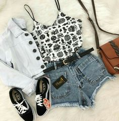 Image discovered by Tammy Hartil. Find images and videos about fashion, outfits and clothing on We Heart It - the app to get lost in what you love. Cute Lazy Outfits, Edgy Outfits, Teen Fashion Outfits, Outfits For Teens, Girl Fashion, Girl Outfits, Womens Fashion, Mode Rockabilly, How To Have Style