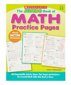 Look at this The Jumbo Book of Math Practice Pages Paperback on #zulily today!