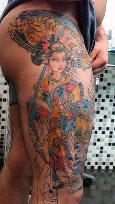 geisha tattoo 5 by ~mojoncio on deviantART
