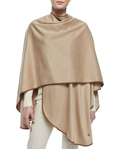 Mantella+Regina+Unita+Cashmere+Cape,+Golden+by+Loro+Piana+at+Bergdorf+Goodman.