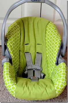 Prob a neat thing to know approx. 20 years from now lol: Re-Covering my Infant Car Seat