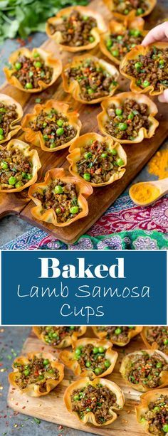 Spicy Lamb Samosa Cups - a quick and easy appetiser for your party table!