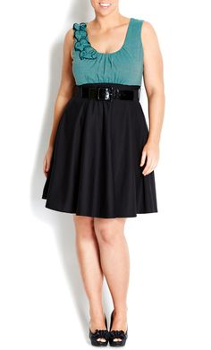 City Chic - MINT & BLACK SAILOR SKATER DRESS - So my style!