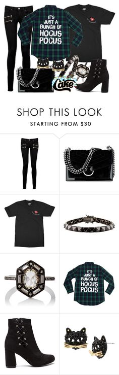 """Hocus Pocus Cakeworthy Restock!"" by leslieakay ❤ liked on Polyvore featuring Paige Denim, Nine West, Eddie Borgo, Cathy Waterman, Betsey Johnson, Halloween, disney, disneybound and disneycharacter"
