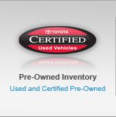 search Toyota certified used car inventory