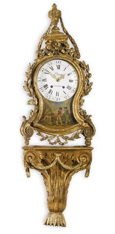 A rare neoclassical giltwood Dutch striking bracket clock, Laurens Rupert, Amsterdam, circa 1770 | Sotheby's