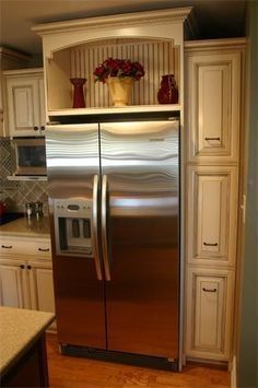 how to build in your fridge with a cabinet on top our diy projects rh pinterest com