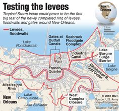 New Orleans braces for Tropical Storm Isaac, which could be the first test of the newly completed levees. #isaac #NOLA