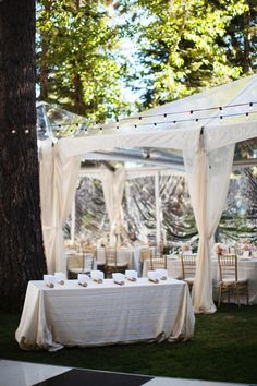 #tents  Photography: Jonathan Young Photography - jyweddings.com Event Design + Planning: Merrily Wed - merrilywed.com Floral Design: Art In Bloom - artinbloomfloral.com  Read More: http://www.stylemepretty.com/2013/05/13/lake-tahoe-wedding-from-merrily-wed/