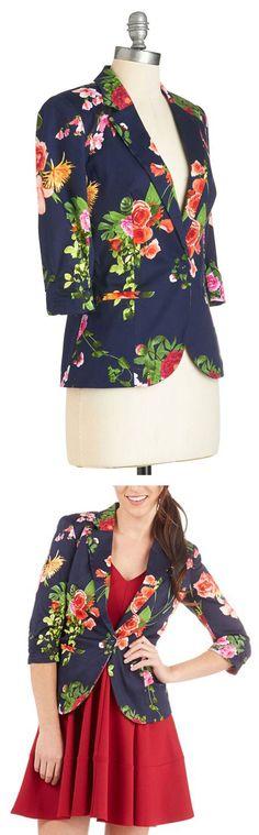 Modcloth floral jacket //