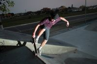 Skatista Murilo Alves da cidade de Imbituba - SC, ele tem 17 anos de idade, são três fotos do skatista com as tricks B/S Noseslide, B/S Flip e Blunt Nosegrab out e as fotos foram tiradas na Pista Local de Imbituba.