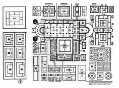 Carolingian Art   Schematic plan for Monastery at St. Gall  early 9th century  never actually built, though it was supposed to be the ideal monastery.   Google Image Result for http://classconnection.s3.amazonaws.com/1883/flashcards/854622/jpg/st_gall_plan_of_monastery.jpg