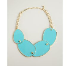Kenneth Jay Lane gold and turquoise enamel hinged panel necklace | BLUEFLY up to 70% off designer brands