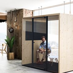 Office Interior Design, Office Interiors, Office Pods, Veneer Panels, Colourful Cushions, Acoustic Panels, Modular Design, Sound Proofing, The Office