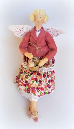 tilda Garden Flowers Fairy handmade interior doll