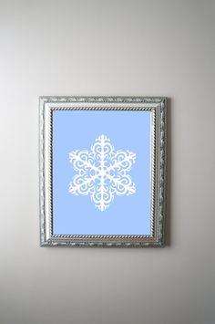 Snowflake Print / Digital Print / Printable Art / by OlaHolaHola