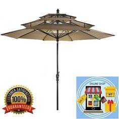 Umbrella-3Tier-Outdoor-Garden-Yard-Porch-Pool-Beach-Sun-Resist-Fading-New-Summer
