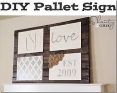 DIY Wood Crafts: DIY Wall Art ~ Pallet Sign