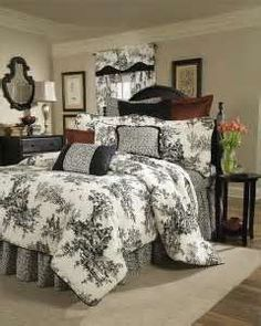 Image Search Results for cream bedroom black bedding