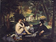 Edouard Manet - Luncheon on the Grass - Goo.You can find Manet and more on our website.Edouard Manet - Luncheon on the Grass - Goo. Claude Monet, Most Famous Paintings, Famous Artwork, Edouard Manet Paintings, A4 Poster, Art Uk, Western Art, Art Reproductions, Lovers Art