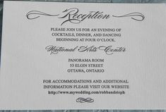 Sample reception card wording for your perfect wedding