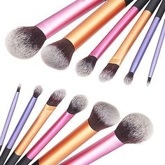 6 pcs Set Pro Techniques Powder Cosmetic Makeup Blush Brushes Foundation Tool