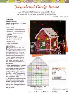 ru / Фото - 101 Easy Home Accents - risau Plastic Canvas Coasters, Plastic Canvas Ornaments, Plastic Canvas Tissue Boxes, Plastic Canvas Crafts, Plastic Canvas Patterns, Gingerbread House Candy, Gingerbread House Patterns, Candy House, Cross Stitch House