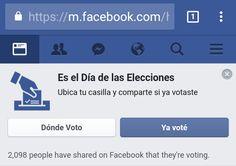 Para combatir el abstencionismo Facebook activó #MegáfonoElectoral