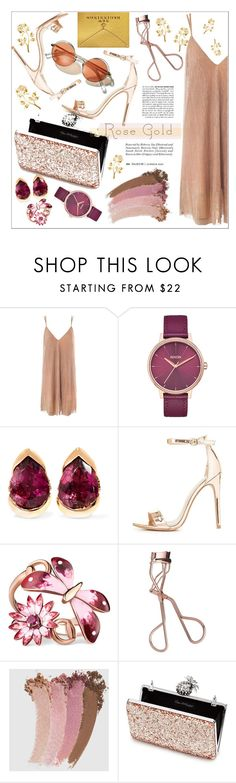 """""""Rose Gold"""" by victoria-bella-donna ❤ liked on Polyvore featuring Sans Souci, Nixon, Fernando Jorge, Charlotte Russe, Gucci, Charlotte Tilbury, Miss Selfridge, Dogeared, rosegold and contestentry"""