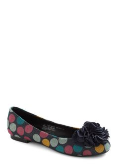 It must be love. Cake Pop Party Flat in Navy - Blue, Multi, Polka Dots, Flower, Flat