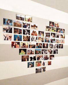 ARTE COM QUIANE - Paps, Moldes, E.V.A, Feltro e Costuras: Montagem de fotos em forma de coração