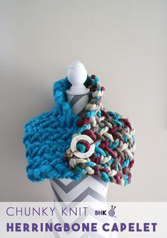 Knit Herringbone Capelet http://knitting.bhookedcrochet.com/knit-herringbone-capelet/