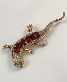 VINTAGE-GORGEOUS-ART-DECO-WHIMSICAL-CORO-CRAFT-STERLING-RHINESTONE-BROOCH-PIN