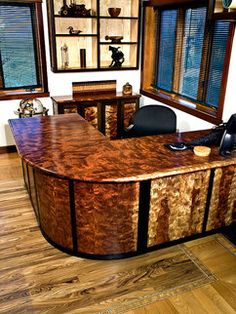 This Is A Custom Desk Made By Rare Earth Hardwoods The Bulk Of Using Figured Bubinga Wood Giving It Naturally Marbled Look