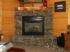 Image result for rustic tile fireplace Fireplace Pinterest