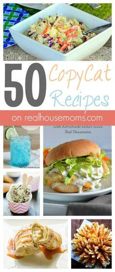 50 CopyCat Recipes on realhousemoms.com