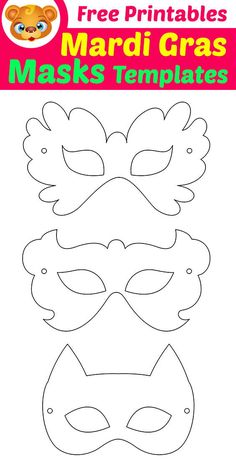 Mardi Gras Masks Templates with Free Printables.