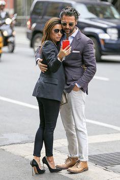 Eva Longoria and Jose Antonio Baston were clicked in New York on April 26, 2015....