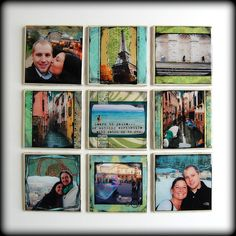 A great way to display vacation photos!!! Great gifts for others too!!!