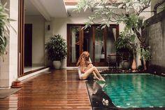 Backyard Pool Designs, Small Backyard Pools, Small Pools, Swimming Pools Backyard, Swimming Pool Designs, Pool Landscaping, Dream Home Design, Modern House Design, Bali House