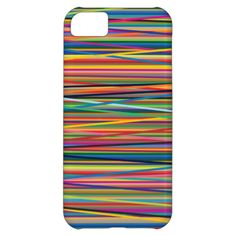 Colorful abstract stripes design cover for iPhone 5C