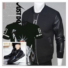 """Rosegal 78/ III"" by emina-095 ❤ liked on Polyvore featuring NIKE, men's fashion, menswear, polyvoreeditorial and rosegal"