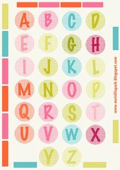 Free printable alphabet letters – DIY sticker – freebie