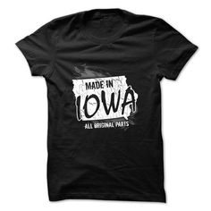 Made in Iowa - #gifts for guys #man gift. BEST BUY  => https://www.sunfrog.com/Political/Made-in-Iowa.html?id=60505
