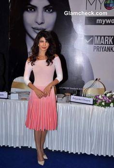 Priyanka Chopra in Peach Dress