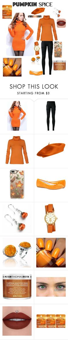 """""""Pumpkin Spice and Everything Nice!"""" by badassslytherin ❤ liked on Polyvore featuring WithChic, DRKSHDW, Casetify, Tory Burch, BillyTheTree, Floss Gloss, Peter Thomas Roth and Burt's Bees"""